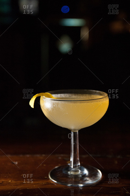 A cocktail served at a bar in New Orleans