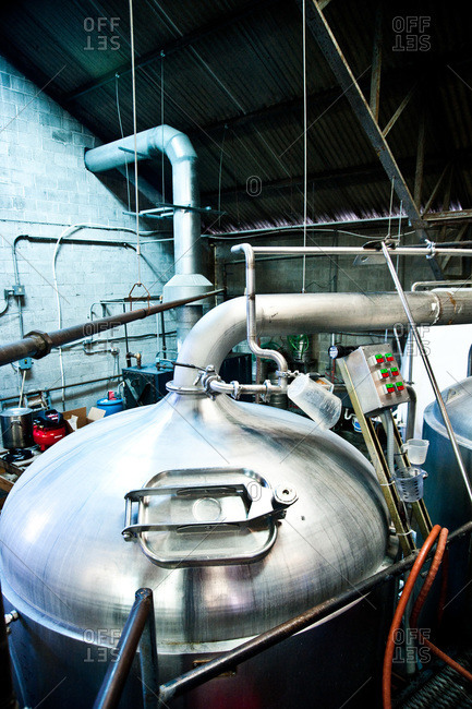 A brewing tank at a New Orleans brewery