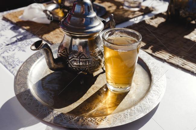 Mint tea in Marrakech, Morocco