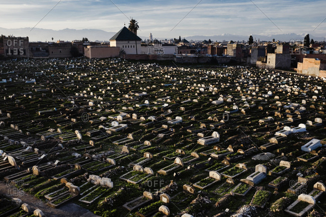 Graveyard in Marrakech, Morocco