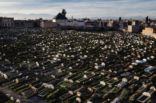 Graveyard in Marrakech, Morocco