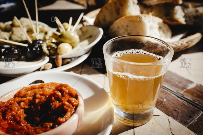 Mint tea, harissa sauce, Marrakech, Morocco