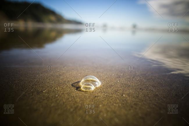 Bubble on a beach - Offset