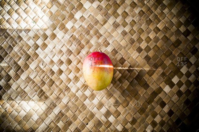 Top view of a ripe mango