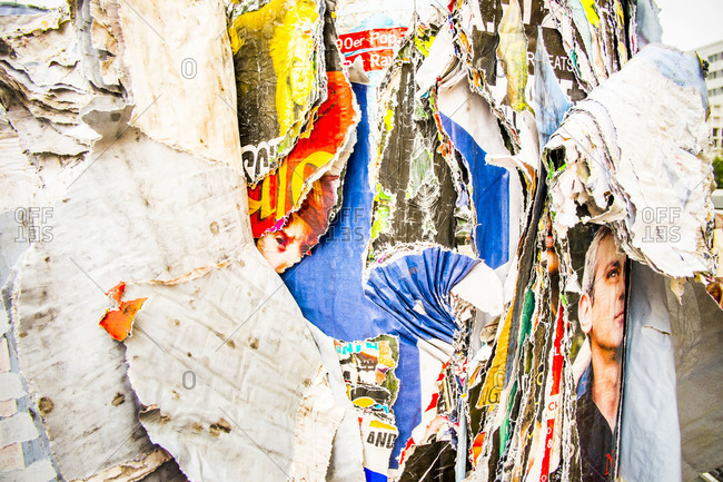 Layers of decaying posters