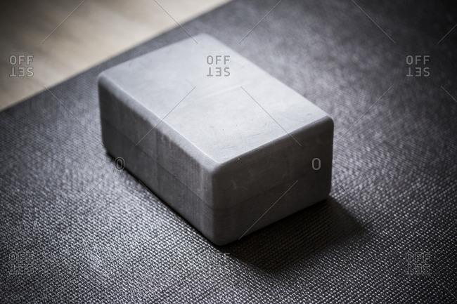 Close up of a yoga block