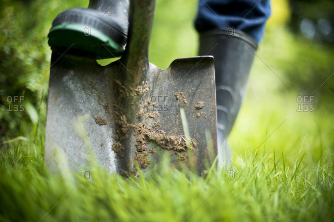 Gardener digging ground - Offset Collection