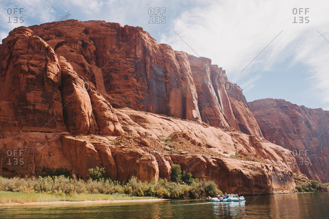 River and canyon with pontoon boat tour