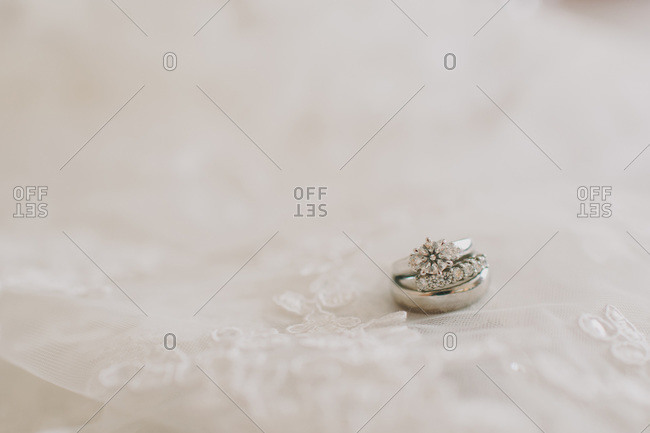 Close up of wedding ring