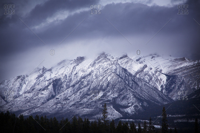 Winter mountains in Canada - Offset