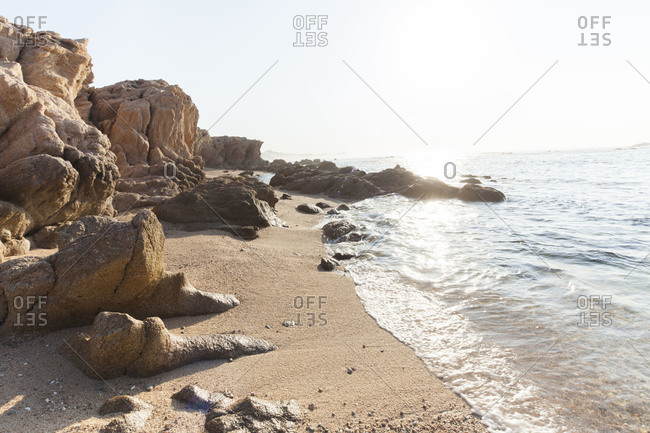 Rock formations on the beach in Chileno bay, Cabo San Lucas, Mexico