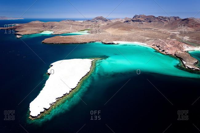 Salt lagoons in La Paz, Mexico