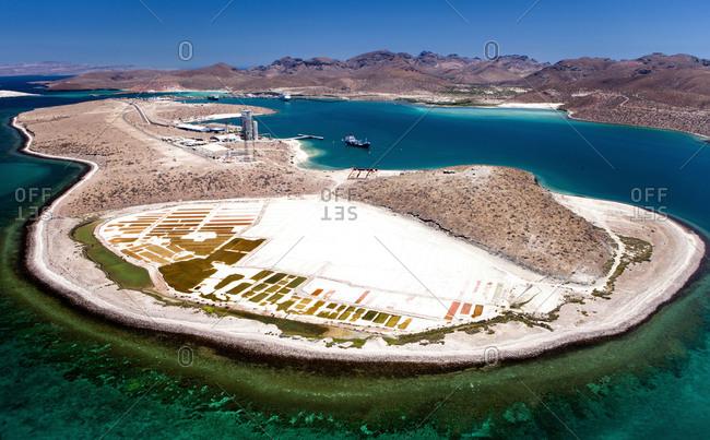 Salt mine in La Paz, Mexico