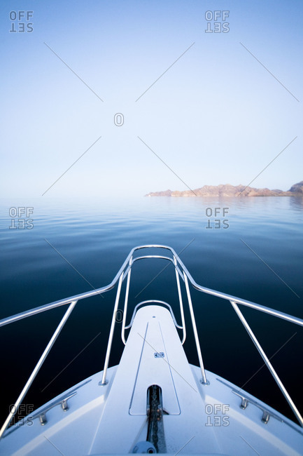 View from the bow of a boat