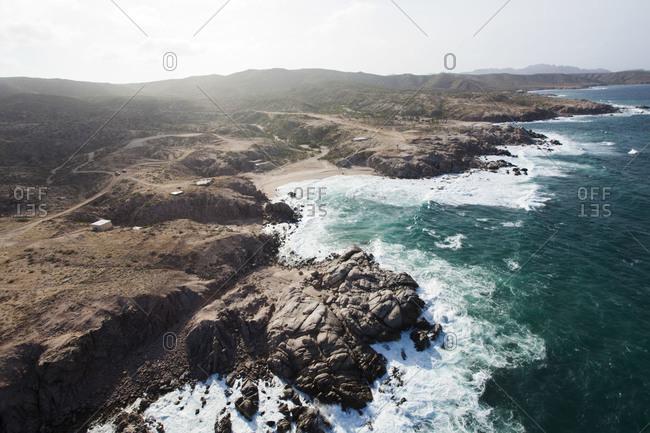 Rocky coast in Mexico
