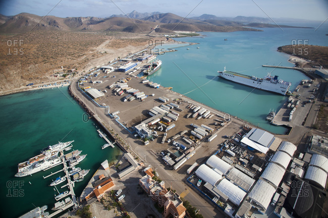 Ships at a Mexican port