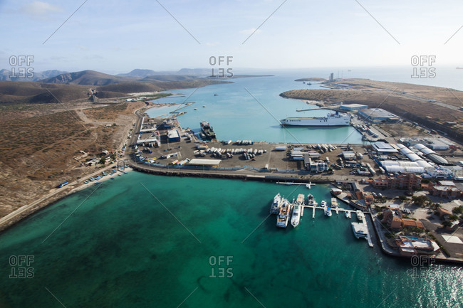 View of a Mexican port