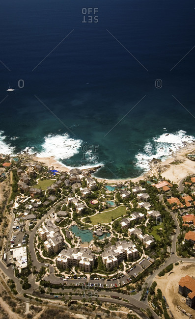 Aerial view of a Mexican coast