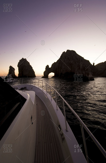 Ship at the Arch of Cabo San Lucas in Mexico