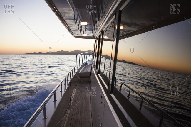 Deck of a a boat
