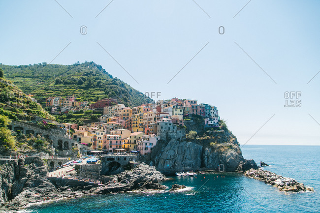 A seaside town in Cinque Terre, Italy