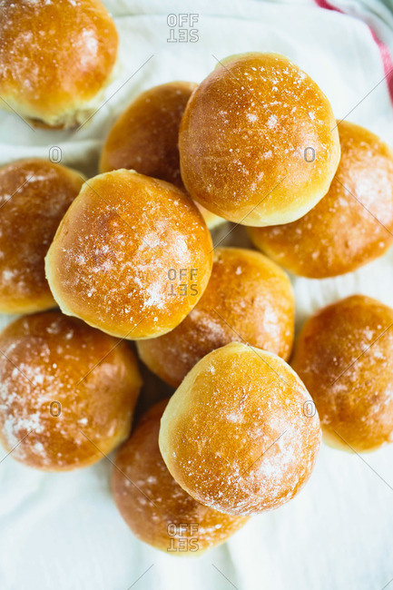 Golden brown Thanksgiving rolls