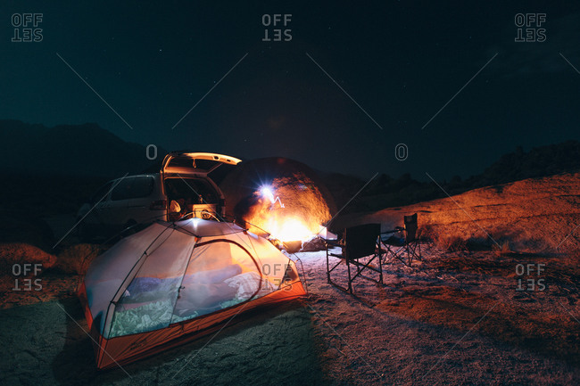 Camping in the Alabama Hills, CA