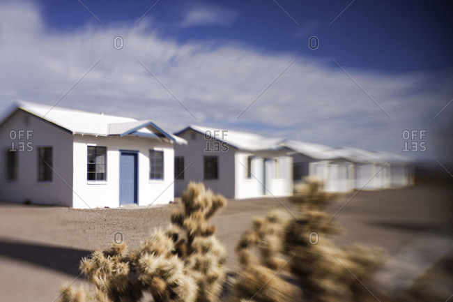 Amboy, CA, USA - Circa 2014: Roy's Motel bungalows on Route 66