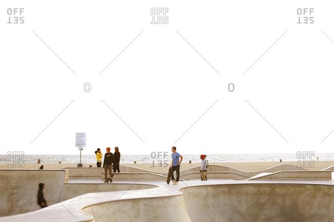 Skate park on the beach