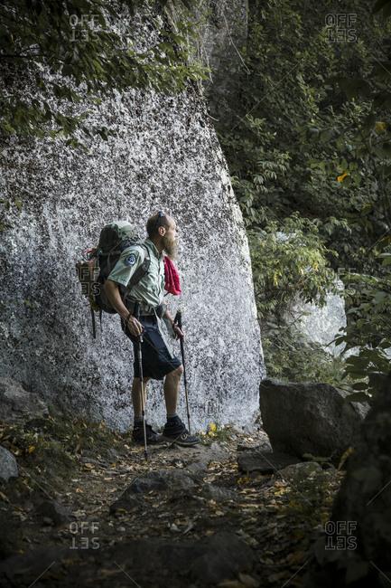 Augie Buccheit, Shenandoah Park Ridge Runner along the trails in Shenandoah National Park on August 12, 2011 in Shenandoah National Park, Virginia