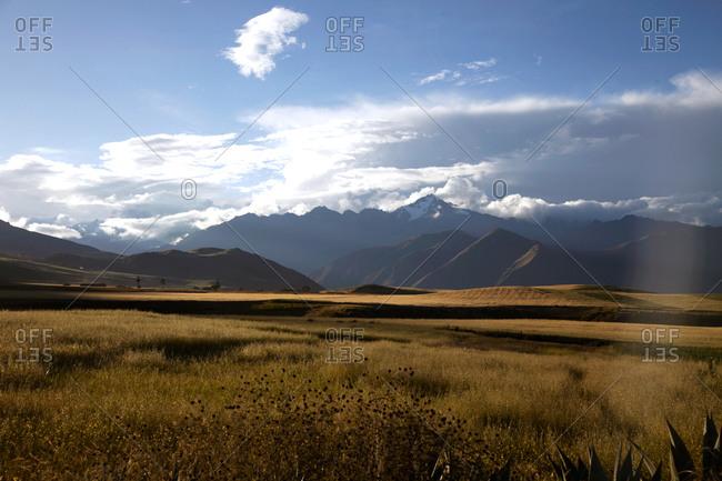 Mountains and prairie in Peru