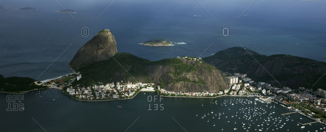 Guanabara Bay with the Sugarloaf Mountain in Rio de Janeiro
