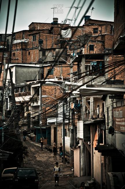 Street of a Brazilian slum