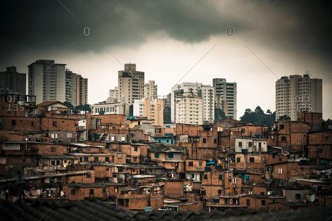 View of a slum in Brazil