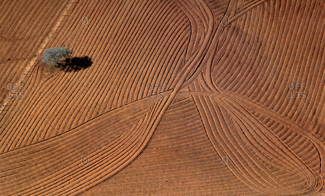 Plough seen from above