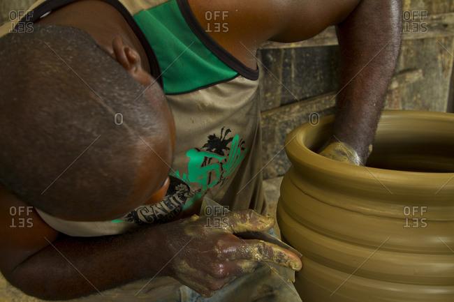 Man making earthenware