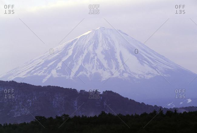 Mount Fuji and Honshu Island, Japan