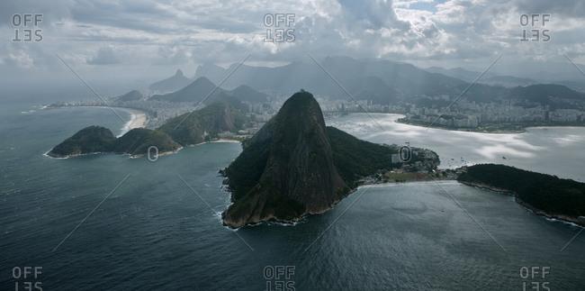 Guanabara Bay with the Sugarloaf Mountain in the center, Rio de Janeiro