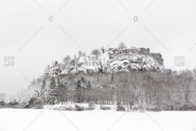 Castle ruin Hohentwiel in winter