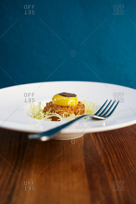 Appetizing dish served on a plate