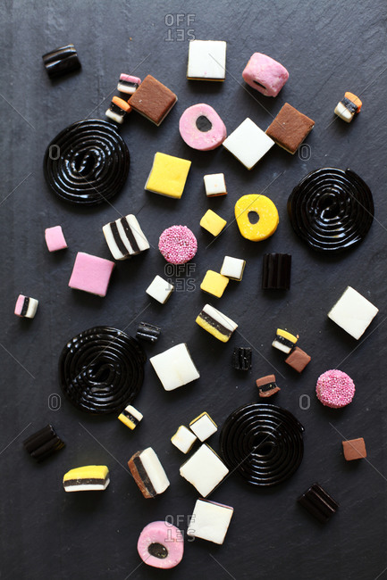 Various types of candy