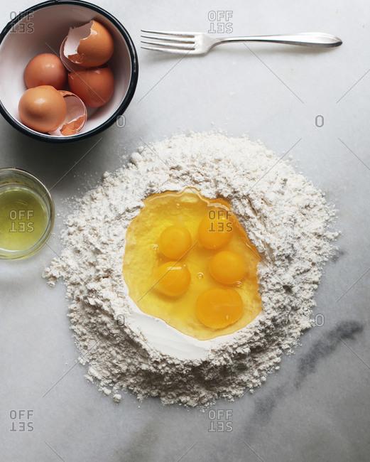 Preparing Pasta Dough