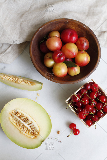 Melon, Cherries, and Apricots