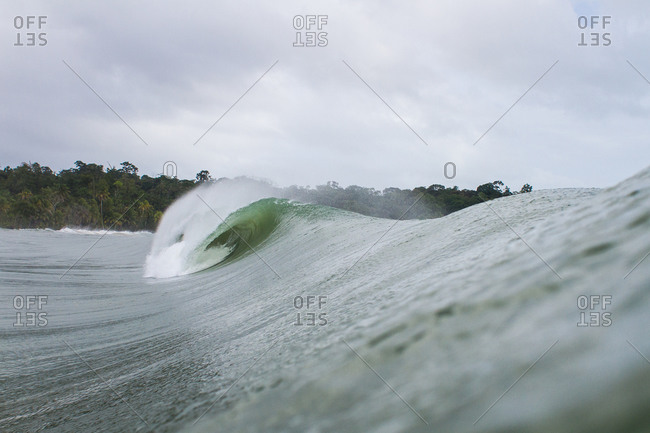Looking down a swelling wave