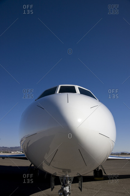 The nose of an airplane