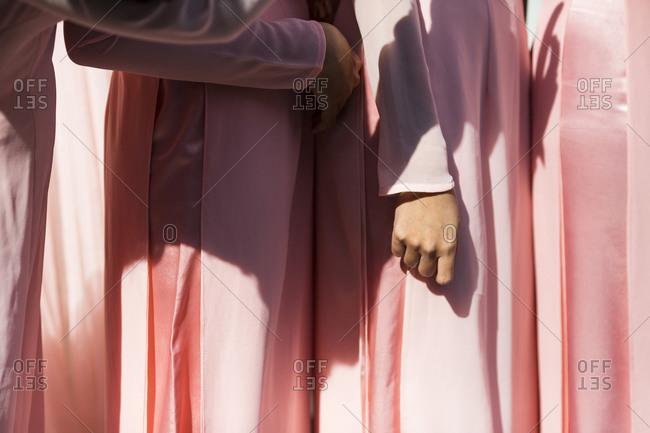 Bridesmaids in traditional Vietnamese dresses