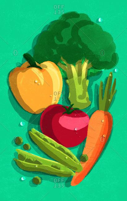 Assortment of various vegetables