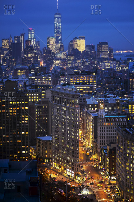 Night view of city - Offset