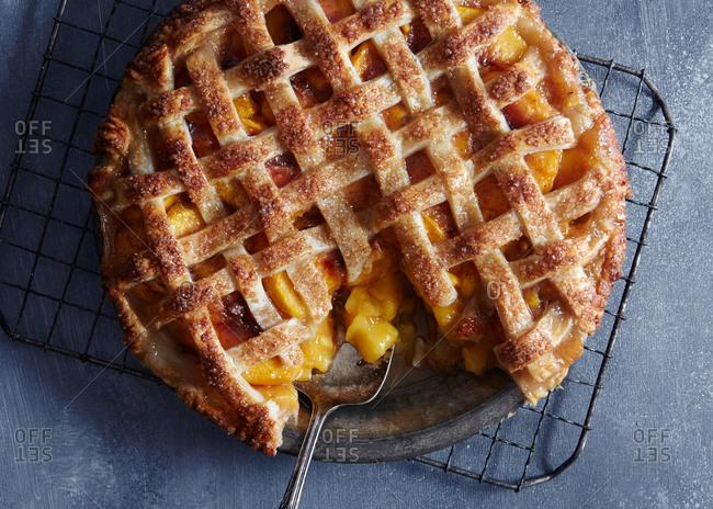 A peach pie
