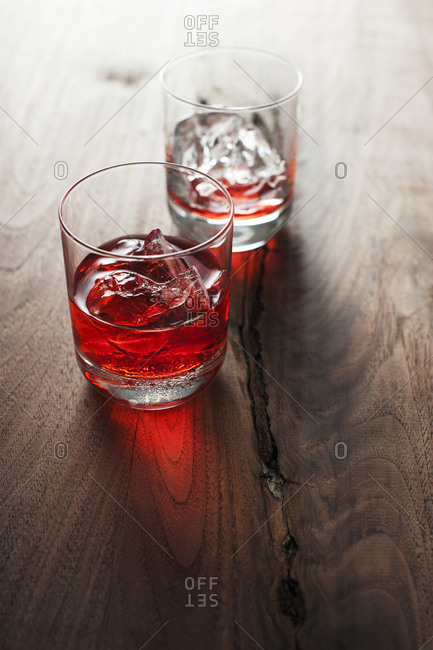 Classic campari on ice